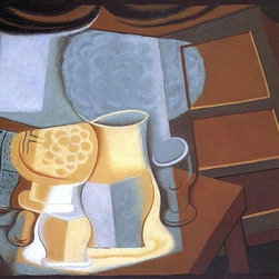 """Juan Gris The Table in Front of the Window - 16"""" x 24"""" Premium Archival Print - 16"""" x 24"""" Juan Gris The Table in Front of the Window premium archival print reproduced to meet museum quality standards. Our museum quality archival prints are produced using high-precision print technology for a more accurate reproduction printed on high quality, heavyweight matte presentation paper with fade-resistant, archival inks. Our progressive business model allows us to offer works of art to you at the best wholesale pricing, significantly less than art gallery prices, affordable to all. This line of artwork is produced with extra white border space (if you choose to have it framed, for your framer to work with to frame properly or utilize a larger mat and/or frame).  We present a comprehensive collection of exceptional art reproductions byJuan Gris."""