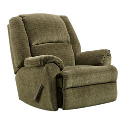 Chelsea Home Furniture - Chelsea Home Chaise Rocker Recliner in Cabo Sage - Chaise Rocker Recliner in Cabo Sage belongs to Verona IV collection by Chelsea Home Furniture