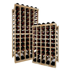 Wine Cellar Innovations - Wine Rack -5Column Top Stack W/Lower Display, Unstained, 4 Foot, Premium Redwood - Each wine bottle stored on this five column individual bottle wine rack is cradled on customized rails that are carefully manufactured with beveled ends and rounded edges to ensure wine labels will not tear when the bottles are removed. This wine rack also has a built in display row. Purchase two to stack on top of each other to maximize the height of your wine storage. Moldings and platforms sold separately. Assembly required.