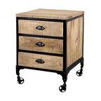 Jean 3 Drawer Side Table - *Materials: Mango Wood, Steel