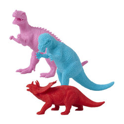 rice - Colorful plastic dinosaurs - Set of 3 - Yes to dinosaurs and super yes to design and colorful dinosaurs! Pick your favorite!