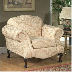 Chelsea Home Furniture - Madison Strawberry Chair - 2000-C-MS - Dacron Wrapped Cushions
