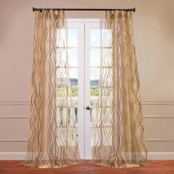 Half Price Drapes - Alegra Gold 50 x 84-Inch Embroidered Sheer Curtain - - HPD has redefined the construction of sheer curtains and panels. Our Embroidered Sheer Collection are unmatched in their quality. Each panel creates a beautiful diffusion of light  - Single Panel  - Non-Weighted  - Pole Pocket  - Cleaning/Care: Dry Clean Half Price Drapes - SHCH-EMB20136-84
