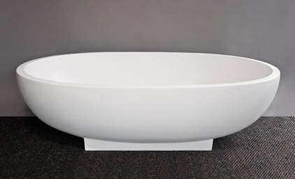 Contemporary Basement 50mm Haven Bath with Base