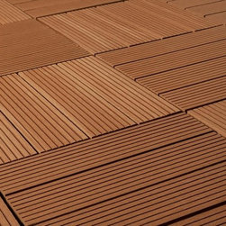 "Kontiki - Kontiki Composite Interlocking Deck Tiles - Basics Series - The Kontiki Composite Interlocking Deck Tiles - Basics Series is designed with the DIYer in mind. Whether you're building a new deck from scratch or merely sprucing up the surface of an existing one, Kontiki's Basics are easy to install, and ideal for any do-it-yourself decking project.   Installation Innovation  Each tile is backed with a ���loop and hook"" installation mechanism that easily snaps tiles together over your substrate. Designed with further innovation in mind, this backing also accommodates alterations to tile dimensions when working around corners, or even arranging them in unique patterns.  Below cost, above expectations   We work closely with innovative manufacturers like these to ensure you get cutting edge products that are also affordable. Removing the middle men in the home improvement industry, we're able to streamline the supply chain and bring quality products right to your door with no added costs. Because of relationships like this, we're able to bring you quality products like Kontiki's Basics Series that offers the longest lasting DIY friendly decking at the lowest possible price."