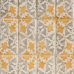 Duquesa Alexandra Decorative Field Tile in Caramella - Ceramic and Terracotta