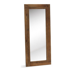 ZUO ERA - Visitacion Mirror Distressed Natural - Aged Elmwood surrounds the Vistacion mirror. Whether in the bathroom or a hallway, this versatile mirror can go anywhere.
