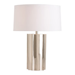 Arteriors Jensen Lamp - This polished nickel lamp resembles a beautifully folded origami shape. We love how the angles