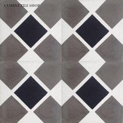 Contemporary Cement Tile - Center Square Cement Tile from Cement Tile Shop
