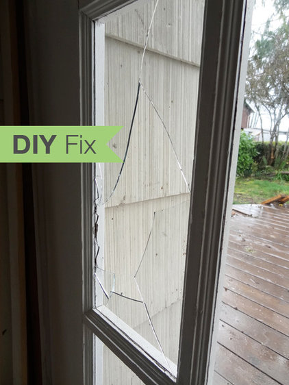 Diy fix how to repair a broken glass door pane for Diy window replacement