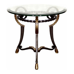 """Ram Lamp Table Base - Ram Lamp Table Base. Style no: ST75700. Material: Metal. 28""""dia x 25""""h. Top Options: Wood, glass, stone, copper. Custom sizing available."""