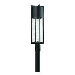 Hinkley Lighting - 1321BK Dwell Dark Sky Outdoor Post Lamp, Black, Clear Seedy Glass - Modern Contempo Outdoor Post Lamp in Black with Clear Seedy glass from the Dwell Collection by Hinkley Lighting