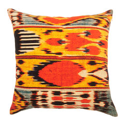 Barn & Willow - Ikat Pillow Cover - Ikat - the traditional dyeing technique that dates several centuries is an utmost favorite in the interior design space and lends a casual bohemian vibe.