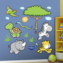 Fathead - Fathead Vinyl Wall Graphic - Jungle Animals 1