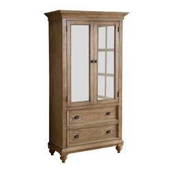 Riverside Furniture - Riverside Furniture Coventry Armoire in Driftwood - Riverside Furniture - Armoires - 32463 - Riverside's products are designed and constructed for use in the home and are generally not intended for rental commercial institutional or other applications not considered to be household usage.Riverside uses furniture construction techniques and select materials to provide quality durability and value in our products and allows us to meet the wide range of design and budget requirements of our customers. The construction of our core product line consists of a combination of cabinetmaker hardwood solids and hand-selected veneers applied over medium density fiberboard (MDF) and particle board. MDF and particle board are used in quality furniture for surfaces that require stability against the varying environmental conditions in modern homes. The use of these materials allows Riverside to design heirloom quality furnishings that are not only beautiful but will increase in value through the years.