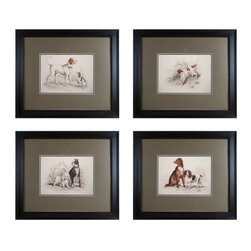 """Sterling Industries - Sterling Industries 10054-S4 23.5"""" Height Dog Duos Wall Art - Specifications:"""