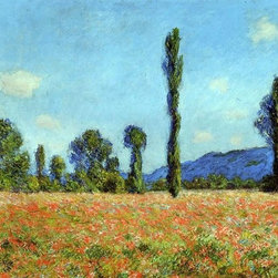 "Claude Oscar Monet Poppy Field - 16"" x 24"" Premium Archival Print - 16"" x 24"" Claude Oscar Monet Poppy Field premium archival print reproduced to meet museum quality standards. Our museum quality archival prints are produced using high-precision print technology for a more accurate reproduction printed on high quality, heavyweight matte presentation paper with fade-resistant, archival inks. Our progressive business model allows us to offer works of art to you at the best wholesale pricing, significantly less than art gallery prices, affordable to all. This line of artwork is produced with extra white border space (if you choose to have it framed, for your framer to work with to frame properly or utilize a larger mat and/or frame).  We present a comprehensive collection of exceptional art reproductions byClaude Oscar Monet."