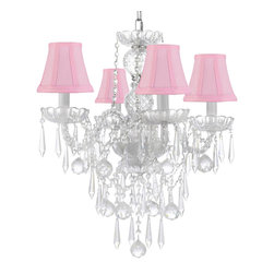 ALL Crystal Chandelier Lighting Chandeliers with 40mm Crystal Balls & Crystal - This beautiful Chandelier is trimmed with Empress Crystal(TM). Item must be hardwired. Professional installation is recommended. Requires (4) 40 watt bulbs - not included