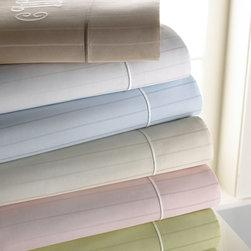 SFERRA - Full Striped Sheet Set Mono. - GREEN (STRIPE) - SFERRAFull Striped Sheet Set Mono.