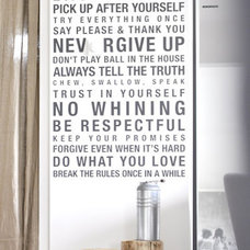 Contemporary Wall Decals by Urban Walls