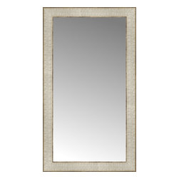 """Posters 2 Prints, LLC - 15"""" x 26"""" Libretto Antique Silver Custom Framed Mirror - 15"""" x 26"""" Custom Framed Mirror made by Posters 2 Prints. Standard glass with unrivaled selection of crafted mirror frames.  Protected with category II safety backing to keep glass fragments together should the mirror be accidentally broken.  Safe arrival guaranteed.  Made in the United States of America"""