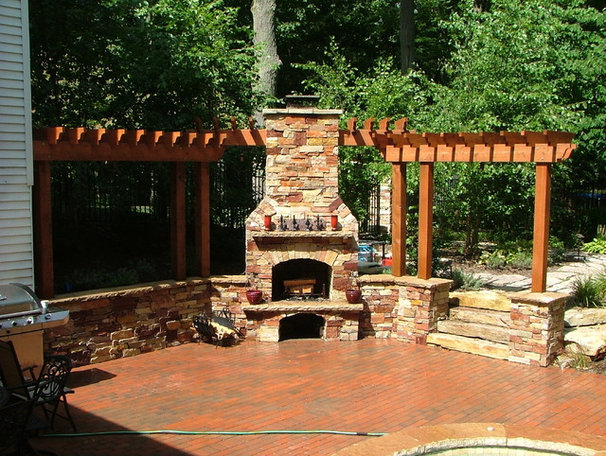 Contemporary Outdoor Fireplaces by Signature Outdoor Concepts