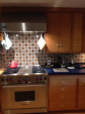 i love my mexican tile backsplash but