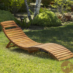 Christopher Knight Home - Christopher Knight Home Lahaina Wood Outdoor Chaise Lounge - Relax on the patio or around the pool in style on this Lahaina natural wood chaise lounge that easily folds for storage or travel. Its unique curved design makes it a beautiful addition to your backyard whether or not you add a cushion.