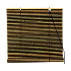 Oriental Unlimted - Burnt Bamboo Roll Up Blinds in Natural & Brow - Choose Size: 36 in. WideBurnt bamboo roll up blinds are a versatile addition to any window. They will fit in with any decor. Easy to hang and operate. 24 in. W x 72 in. H. 36 in. W x 72 in. H. 48 in. W x 72 in. H. 60 in. W x 72 in. H. 72 in. W x 72 in. H