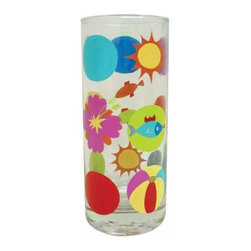 WL - 6 Inch Beach Circles Motif 10 Ounce Collins Style Tall Drinking Glass - This gorgeous 6 Inch Beach Circles Motif 10 Ounce Collins Style Tall Drinking Glass has the finest details and highest quality you will find anywhere! 6 Inch Beach Circles Motif 10 Ounce Collins Style Tall Drinking Glass is truly remarkable.