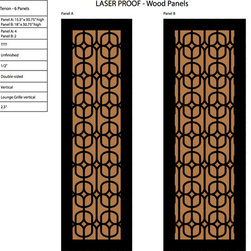Laser Cut Panels for a Custom Armoir - These custom laser cut panels will make it easy to create a beautiful custom library. We are building 2 armoirs and a wall unit for interior designer Sara Ingressia Interiors.