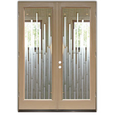 Modern Front Doors by Sans Soucie Art Glass
