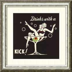 Drinks with a Kick Framed Print by Retro Series