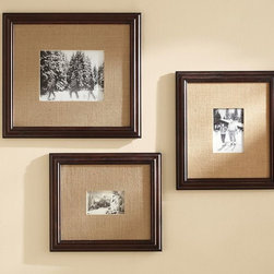 """Multi-Mat Frames - Traditional wood frames will always be """"in,"""" especially ones like these that boast natural hemp mats to frame your photos perfectly."""