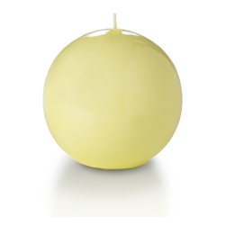 "Neo-Image Candlelight Ltd - Set of 6 - Yummi Gloss Sphere Ball Candles - 16 Colors, Buttercup Yellow, 2.8 - Our unscented 2.8"" High Gloss Sphere Candles are ideal when creating a beautiful candlelight arrangement for the home or wedding decor.  Available in 7 trendy High Gloss candle colors hand over dipped with white core to match and compliment your home decor or wedding centerpiece decoration."