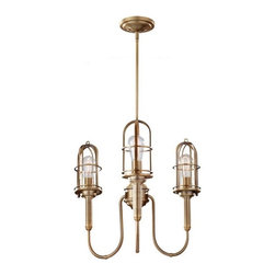 Murray Feiss - 3 Urban Renewal 3 Light 1 Tier Chandelier - Bulb Base: Medium (E26). Bulb Wattage: 100. Bulb Count: 3. Bulbs Not Included