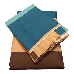 raziascloset - Steel Blue King - 100% Cotton Flat Bedsheet - King - 100% Cotton Flat Bedsheet set with 2 sided frills and 2 Pillow cases with 4 sided frills, King size