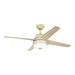 "Kichler Lighting - Kichler Lighting 310110AW Porters Lake Aged White 54"" Ceiling Fan - 3 Bulbs, Bulb Type: 40 Watt Candelabra, Bulbs Included; Fan Control: Full Function Wall Control; Weight: 30.80lbs"