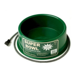 FARM INNOVATORS - Round Heated Pet Bowl - Features: