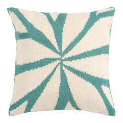 "Surya - Surya Pillow Kit Poly Fiber Cloud Cream 22"" x 22"" Accent Pillow - Resembling the leaves on a flower, this trendy design brings today's style right to your room. Colors of ivory and turquoise accent this decorative pillow. This pillow contains a poly fill and a zipper closure. Add this 22"" x 22"" pillow to your collection today."