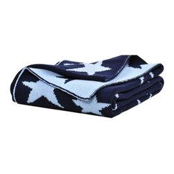 Elegant Baby - Blue Star Knit Blanket - Small - Blue Star Knit Blanket