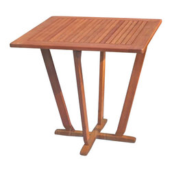 "International Caravan - International Caravan Royal Tahiti 28"" Square Pyramid Patio Table - International Caravan - Patio Dining Tables - TTST015 - The Royal Tahiti 32"" Square Table is made from solid yellow balau wood which is comparable to teak wood in strength and durability."