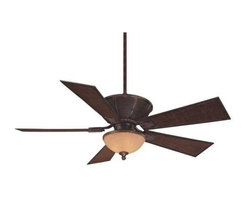 Savoy House - Savoy House Danville Ceiling Fan in Dark Bamboo - Savoy House Danville Model SV-52-110-5BA-04 in Dark Bamboo with Dark Bamboo Finished Blades.
