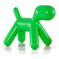 Zuo Modern Green Pup Children's Chair - This little doggy is actually a stool for kids, but it reminds me of a Jeff Koons sculpture. I would use it as an accessory in an adult room.