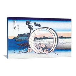 "Artsy Canvas - Barrel Maker 36"" X 24"" Gallery Wrapped Canvas Wall Art - Barrel Maker - Katsushika Hokusai (1760 beautifully represented on 36"" x 24"" high-quality, gallery wrapped canvas wall art"