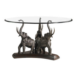 Henry Link - Henry Link Tusks and Trunks Dining Table Base in Aged Bronze Finish - Henry Link - Dining Tables - 014011400XX - About This Product: