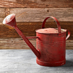 Vintage Painted Watering Can, Red - I love the rustic feel of this weathered watering can. I'd hang it on my old hat stand near the front door to enjoy every day and remind me that spring is just around the corner.