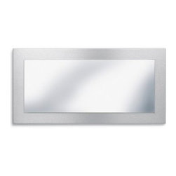Curo Rectangle Mirror - 13.77W x 27.55H inches - The clean simple design of the Curo Rectangle Mirror can really dress up a room. Whether you hang the mirror horizontally or vertically or place it above the couch nightstand or in your dressing room the neutral color palette will fit in well and add beauty and style. Together the rectangular glass mirror and brushed stainless steel frame measure 13.77 by 27.55 inches. The modern Curo mirror will be yours to enjoy for years to come. About BlomusBased in Sundern Germany Blomus is an international designer of functional and decorative stainless steel products for the home interior and exterior. Their aim is to harmonize form and function to create special products for everyday life such as kitchen accessories wellness elements patio accents and decorative items. Their designs soften the cold and sterile edge of stainless steel by combining it with other materials. For Blomus design is not an end in itself but an important part of everyday life.