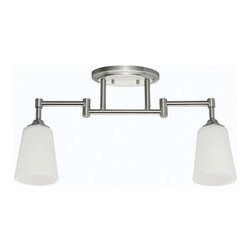 Sea Gull Lighting - Sea Gull Lighting 2530402 2 Light Track Kit with Adjustable Arms - Brushed Nicke - Features: