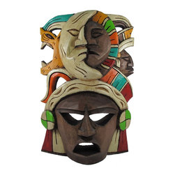 Mayan Mask - Sun & Moon - -Handmade by Artisans in Mexico